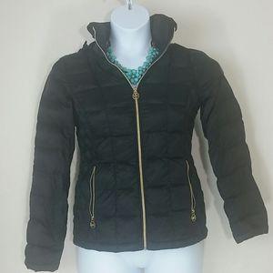 Michael Kors puffer coat jacket down hooded black